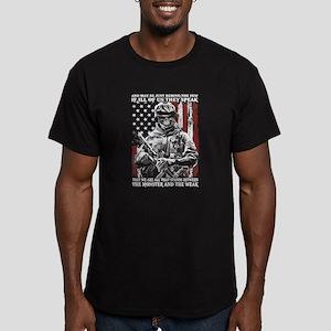 Veteran - Proud to be Men's Fitted T-Shirt (dark)
