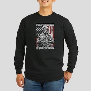 Veteran - Proud to be a v Long Sleeve Dark T-Shirt