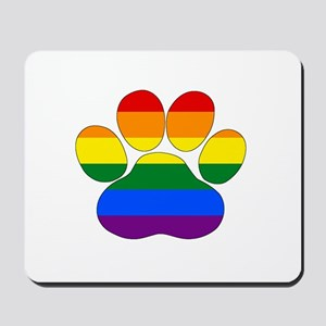 Rainbow Paw Mousepad