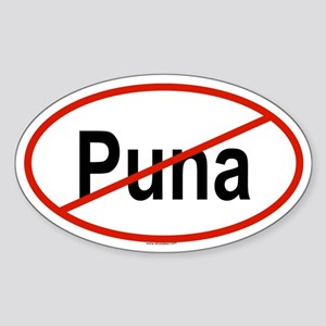 PUNA Oval Sticker