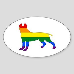 Rainbow Pitbull terrier Sticker
