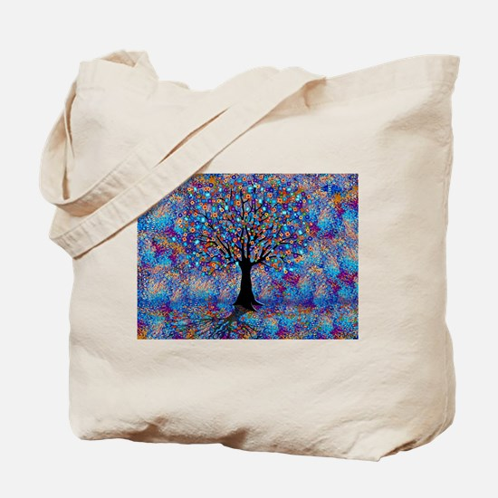 Colorful Tree of Life Tree Carnival by Ju Tote Bag