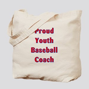 Proud Youth Baseball Coach Tote Bag