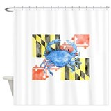 Crab Shower Curtains
