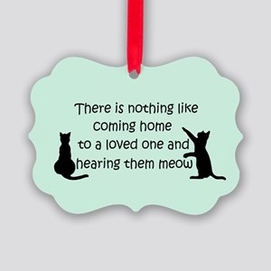 Coming Home to a Cat Ornament
