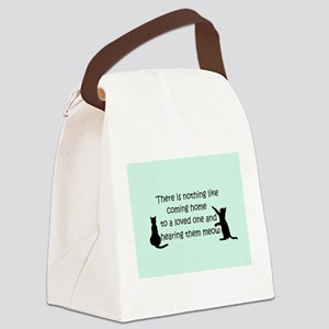 Coming Home to a Cat Canvas Lunch Bag