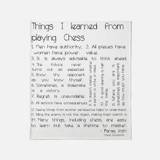 Cute Chess Throw Blanket