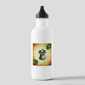 Black Stenciled Leprec Stainless Water Bottle 1.0L