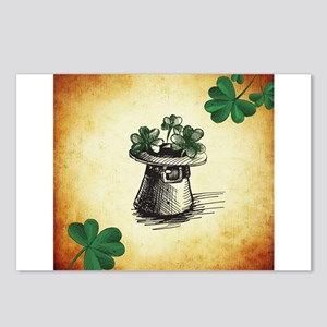 Black Stenciled Leprechau Postcards (Package of 8)