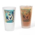 Colorful Currency Collage Drinking Glass