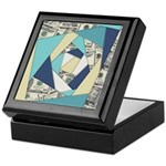 Colorful Currency Collage Keepsake Box