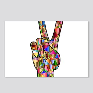 Chromatic Rainbow Peace H Postcards (Package of 8)