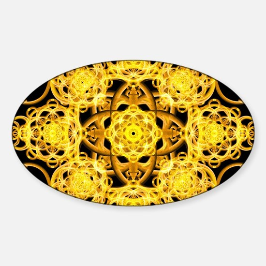 Healing mandala Sticker (Oval)
