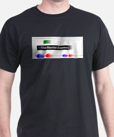"""Bipolar Express"" Train on Tee (white) T-Shirt"