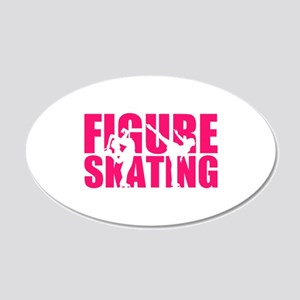 Figure skating 20x12 Oval Wall Decal