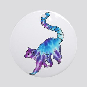 Psychedelic Lemur Round Ornament