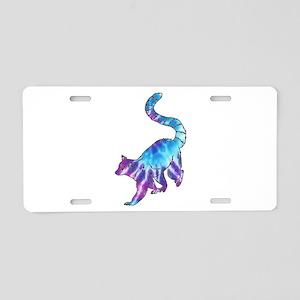 Psychedelic Lemur Aluminum License Plate