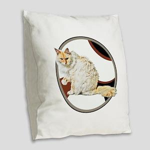 Bad kitty Burlap Throw Pillow