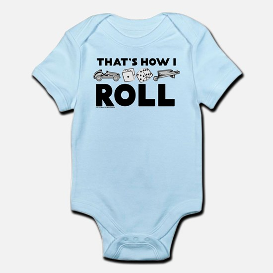 Monopoly - Thats How I Roll Baby Light Bodysuit