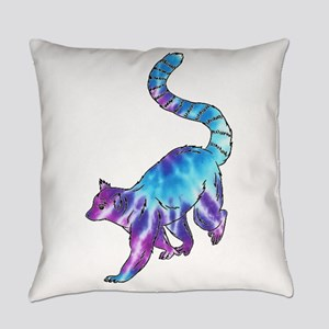 Psychedelic Lemur Everyday Pillow