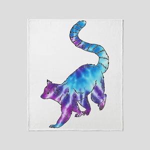 Psychedelic Lemur Throw Blanket