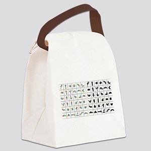 Colorful Origami Canvas Lunch Bag