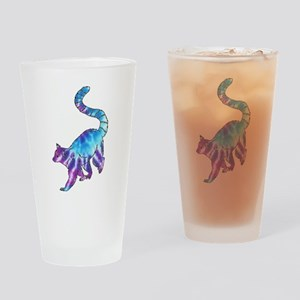 Psychedelic Lemur Drinking Glass