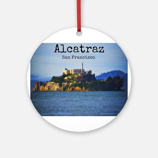 Alcatraz Island San Francisco Round Ornament