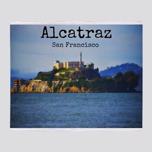 Alcatraz Island San Francisco Throw Blanket