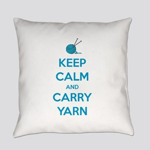 Keep Calm and Carry Yarn Everyday Pillow