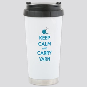 Keep Calm and Carry Yar Stainless Steel Travel Mug