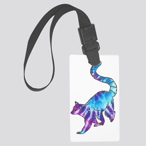 Psychedelic Lemur Luggage Tag