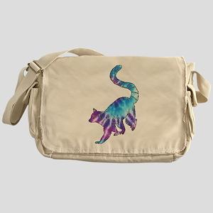 Psychedelic Lemur Messenger Bag
