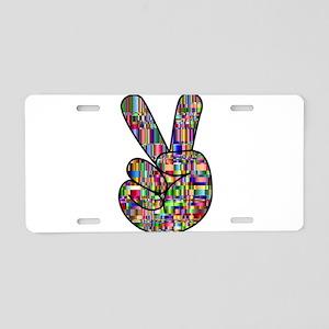 Chromatic Rainbow Peace Han Aluminum License Plate