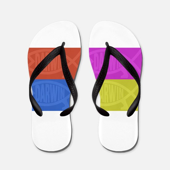 Darwin Fish Pop-Art 2 Flip Flops