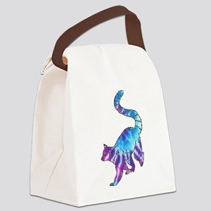 Psychedelic Lemur Canvas Lunch Bag