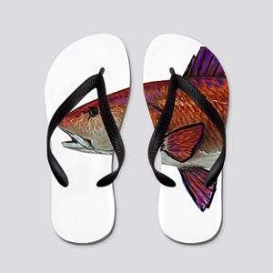 76a5a8fc8adef2 Red Snook Flip Flops - CafePress