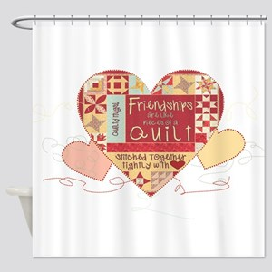 Friendships are like Quilts in Hearts Shower Curta