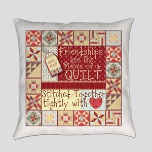 Friendships are Like Quilts Everyday Pillow