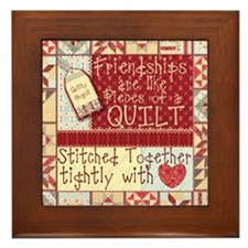 Friendships are Like Quilts Framed Tile