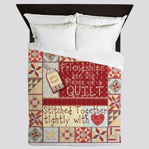 Friendships are Like Quilts Queen Duvet