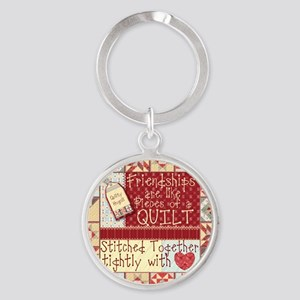 Friendships are Like Quilts Keychains