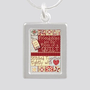 Friendships are Like Quilts Necklaces