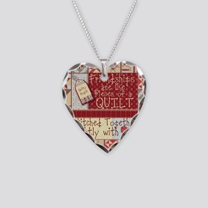 Friendships are Like Quilts Necklace