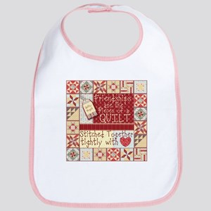 Friendships are Like Quilts Baby Bib