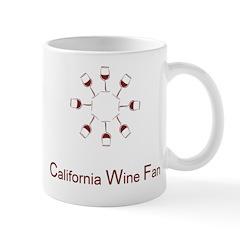 California Wine Fan logo Mugs