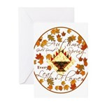 Autumn Second Spring Leaves Greeting Cards