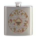 Autumn Second Spring Leaves Flask
