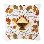 Autumn Second Spring Leaves Woven Throw Pillow