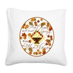 Autumn Second Spring Leaves Square Canvas Pillow